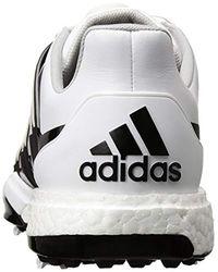 Adidas White Powerband Boa Boost Golf Shoe for men