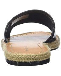 Tommy Hilfiger Black Leather Flat Mule Open Toe Sandals