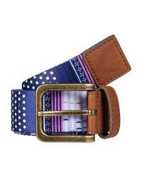 Roxy Blue Webbing Belt For - Webbing Belt