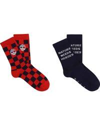 Lot de 2 paires de chaussettes ENFANT ROUGE VIF 31 Timberland pour homme en coloris Blue