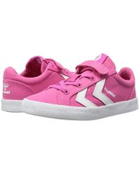 Hummel Pink Unisex-Kinder Deuce Court Jr Low-Top