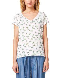 Edc By Esprit White 058CC1K054 T-Shirt