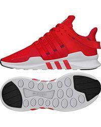 EQT Support ADV, Chaussures de Fitness garçon Adidas pour homme en coloris Red