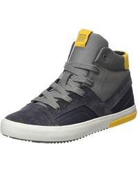 J Alonisso Boy A, Zapatillas Altas para Niños, Gris (Dk Grey/Yellow C0070), 33 EU Geox de hombre de color Gray