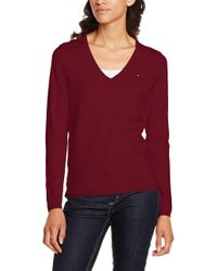 Calvin Klein Red New Ivy V-nk Swtr Sweatshirt