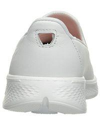 Skechers White Performance Go Walk 4 Upscale
