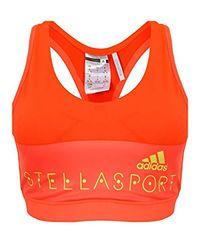 Adidas Red S Stella Mccartney Stellasport Padded Sport Bra