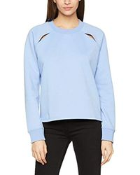 Carina C-NK Sweatshirt Ls Sweat-Shirt Femme Tommy Hilfiger en coloris Blue