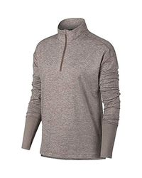 Nike Gray Element 1/2 Zip Running Top for men