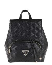 Backpack with Flap Astrid Backpack with Flap Black Guess