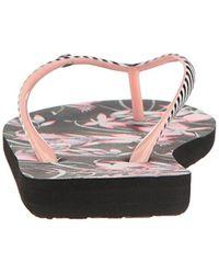 Roxy - Black Portofino Sandals Flip Flop - Lyst
