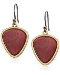 Lucky Brand Metallic S Set Stone Drop Earrings