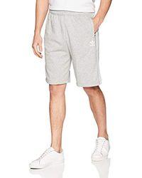 Adidas Gray Originals Originals 3 Stripes French Terry Short, Medium Grey Heather/white, 2xl for men
