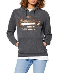 Vintage Logo Metalwork Entry Hood Sweat-Shirt À Capuche Superdry en coloris Gray