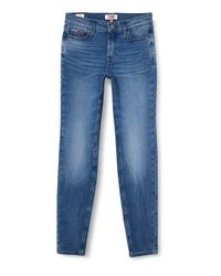 Tommy Jeans Mujer Nora Mid Rise Skinny Dysmd Straight Jeans Tommy Hilfiger de color Blue