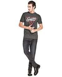 Guess Black Athletic Logo Tee for men