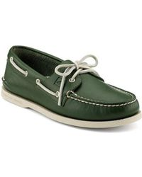 Sperry Top-Sider - Green Authentic Original Two-eye Boat Shoe - Lyst