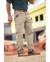 Wrangler Gray Riggs Workwear Flannel Lined Ripstop Ranger Pant Work Utility for men