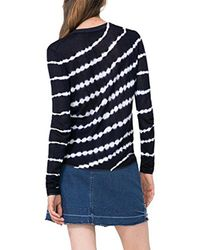 Desigual - Blue Elian Flat Knitted Thin Gauge Pullover - Lyst