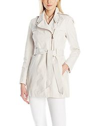 Vince Camuto - White Water Repellent Belted Trench Coat - Lyst