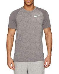 Nike Gray Breathe Miler T-shirt for men