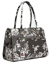 Tamra Society Carryall Black Floral di Guess
