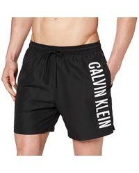 Calvin Klein Black Medium Drawstring Trunks for men
