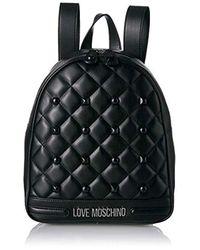 Borsa Matt Nappa Pu di Love Moschino in Black