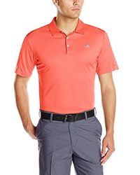 Adidas Multicolor Golf Climacool Debossed 3-stripes Polo for men