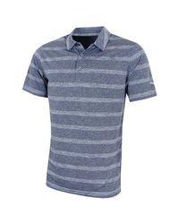 PUMA Blue Pounce Stripe Golf Polo Top for men