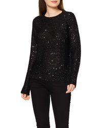 Vero Moda Black VMNEWLEILANI LS O-Neck Blouse Pullover