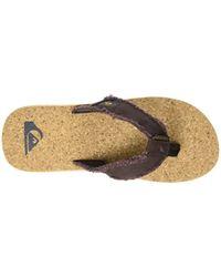 Quiksilver Brown Monkeyabysscork Flip Flops for men
