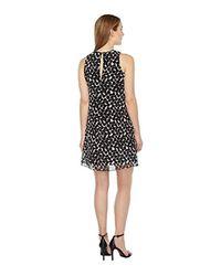 Calvin Klein Polka Dot Trapeze Dress Cd8hac2r (black/white) Dress