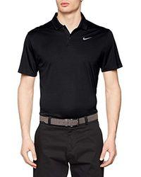 891855, Polo Uomo, Nero (Negro 010), Medium di Nike in Black da Uomo