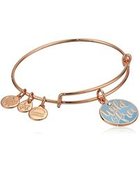 ALEX AND ANI Multicolor Color Infusion Words Are Powerful Wild And Free Bangle (shiny Rose) Bracelet