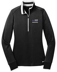 Nike American Flag Blue Line Ladies Cover 1/2 Zip 578674 (x-large, Black)