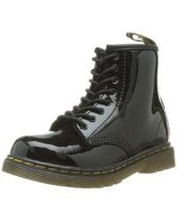 Dr. Martens BROOKLEE Patent Mädchen Bootschuhe in Black für Herren