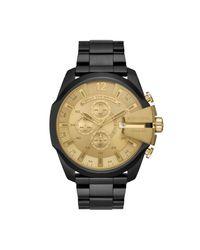 DIESEL Metallic Mega Chief Quartz Stainless Steel Chronograph Watch for men