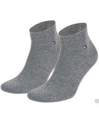 Tommy Hilfiger Calf Socks Black Black for men