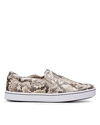 Clarks Multicolor Pawley Bliss Sneaker, Taupe Snake Synthetic