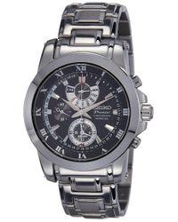 Orologio Cronografo al Quarzo Uomo con Cinturino in Acciaio Inox SPC161P1 di Seiko in Black da Uomo
