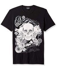 Just Cavalli Black S Skull T-shirt for men