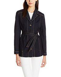 NYDJ - Blue Deena Jean Jacket In Premium Lightweight Denim - Lyst