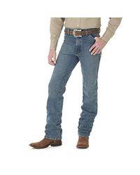 Wrangler Blue Cowboy Cut Slim Fit Jean, Rough Stone, 35wx32l for men