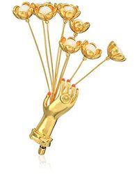 Trina Turk - Metallic Flower Bouquet Brooch Hoop Earrings - Lyst