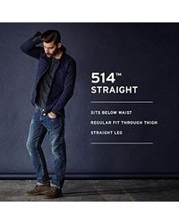 Levi's Blue 514 Straight Fit Jean for men