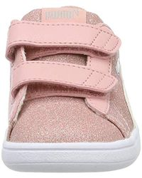 PUMA Mädchen Smash v2 Glitz Glam V Inf Sneaker in Pink für Herren
