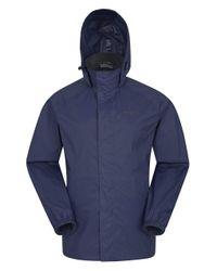 Giacca da Uomo - Antipioggia con Cappuccio a di Mountain Warehouse in Blue da Uomo