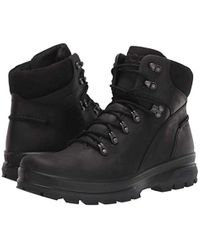 Rugged Track Hydromax Water-Resistant Plain Toe Hiking Boot Ecco pour homme en coloris Black