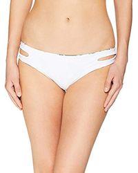 Roxy White Junior's Solid Softly Love Reversible 70s Bikini Bottom